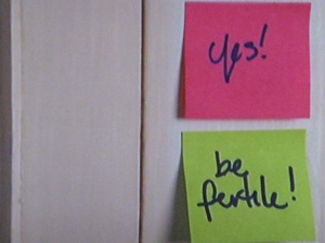 Post-its!  Now with 50% more positivity!