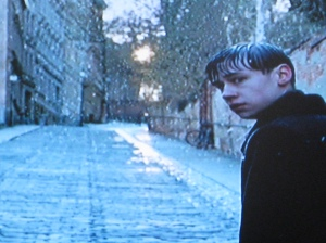 David Kross is young Michael Berg in The Reader