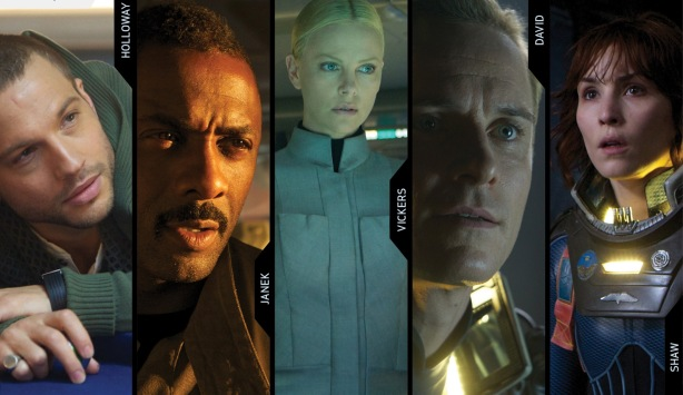 "The cast of ""Prometheus"""