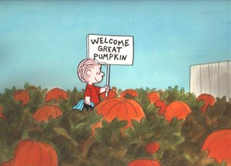 Linus rolls out the welcome mat for the Great Pumpkin