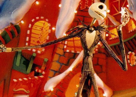 Jack Skellington in the world of Christmas