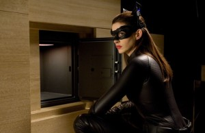 "Anne Hathaway is Selina Kyle, ""The Catwoman"""