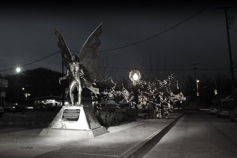 Mothman Statue, taken by Madd Matt