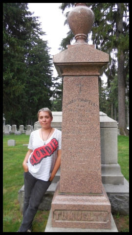 The author at the gravesite of Francis Tumblety, upstate NY, Summer 2013